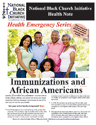 Immunization Health Note cover